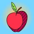 Ilustração do vetor do pop art de apple Foto de Stock