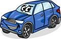 Ilustração dos desenhos animados do caráter do carro de suv Fotografia de Stock