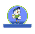 Im your coach a mascot owl as with whistle in hand Royalty Free Stock Photo