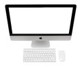 Imac ufa russia may photo of new with os x yosemite monoblock series of personal computers created by apple inc Stock Photo