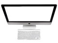 Imac ufa russia may photo of new with os x yosemite monoblock series of personal computers created by apple inc Stock Image