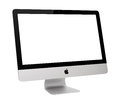 Imac ufa russia may photo of new with os x yosemite monoblock series of personal computers created by apple inc Stock Images