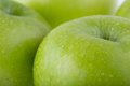 Image of apple fruit with water drops close up Stock Photography