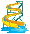 Image with aquapark theme eps vector illustration Royalty Free Stock Photos