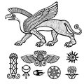 Image Of Assyrian Winged Animal.