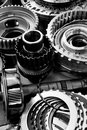 Image automobile gear assembly background Royalty Free Stock Photography