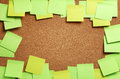 Image of blank green and yellow sticky notes Royalty Free Stock Photo