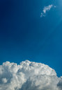 Image of blue sky on day time for background with white clouds Royalty Free Stock Photography