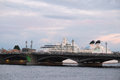 Image of bridge from the neva river in st petersburg landscape with russia Stock Photo