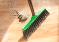 Image of brush cleaning garbage closeup Royalty Free Stock Images