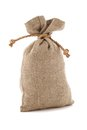 A image of burlap sack the tied Stock Images