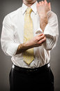 Image business man rolling up his sleeves Stock Photography