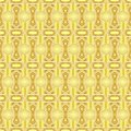 Seamless geometric pattern of gradient yellow gold stars and polygon shapes with white lines. Vector illustration, EPS10.