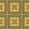 Image of carved golden ornament seamless pattern texture Stock Images
