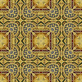 Image of carved golden ornament seamless pattern texture Royalty Free Stock Images