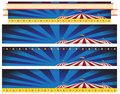 Circus Carnival Tent Banner Background Set Royalty Free Stock Photo
