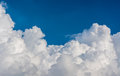 Image of clear sky on day time for background usage blue and white clouds Royalty Free Stock Images
