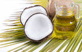 Image of Coconut oil for alternative therapy Royalty Free Stock Photo