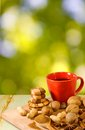 Image of coffee and nuts Royalty Free Stock Photo