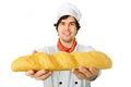 Image cook bread white background Stock Image
