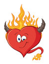 The image of cute cartoon devilish heart illustration with simp simple gradients hearts Royalty Free Stock Photography