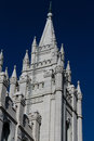Image d une tour du temple mormon de salt lake city lds Image libre de droits