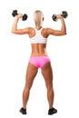 Image de belle femme sportive d arrière faisant l exercice Photos stock