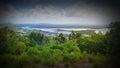 Image de film aérienne de rivière de noosa de surveillance Image libre de droits