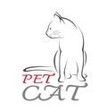 Image de vecteur d un chat Photos libres de droits