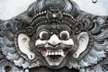 Image of the demon traditional sculpture in balinese temple Royalty Free Stock Photos