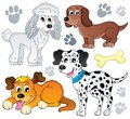 Image with dog topic eps vector illustration Royalty Free Stock Photos