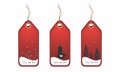 Image of editable vector illustration ,set of Christmas price tags/labels with place for text Royalty Free Stock Photo
