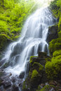 Image of Fairy Falls in Columbia Gorge River Stock Photo