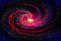 Image of galaxies, nebulae, cosmos, and effect tunnel spiral galaxy background