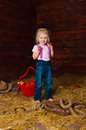 Image girl having fun mow Royalty Free Stock Images