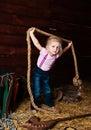 Image girl having fun mow Stock Images