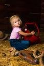 Image girl having fun mow Stock Image
