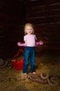 Image girl having fun mow Royalty Free Stock Photography