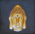 The image of the golden buddha closeup close up Royalty Free Stock Photography