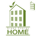 An image of a green energy apartment home Royalty Free Stock Photography