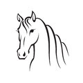 Image of an horse monochrome illustration Royalty Free Stock Images