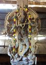 Ancient Statue of Nataraja with Flowers