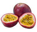 Image of Isolated passionfruit Royalty Free Stock Photography