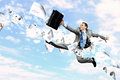 Image of jumping businessman Stock Photography
