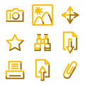 Image library icons Stock Photos
