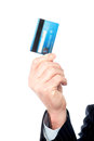 Image of man s hand holding cash card cropped a out Stock Photography