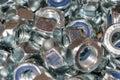 The image of many female screws Royalty Free Stock Photo