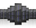Image of many server racks Stock Photo