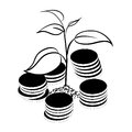 Image of money tree. Royalty Free Stock Photo