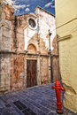 Image of old building in the backstreets of chania greece Stock Photos